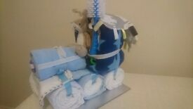Nappy cake train baby shower xmas gift