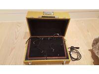Custom West Coast pedal board w/tweed hard case and Truetone CS7 isolated power supply