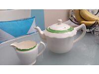 Vintage Old Foley Teapot & Milk Jug LONDON SW12