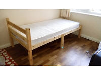 Heavy Duty 3ft Single Pine Bed Frame