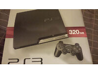 Slim PS3 320GB CONTROLLERS AND GAMES and BOX 105ONO