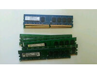 11 x Assorted DDR2/DDR3 Desktop Ram ( 1&2gb)