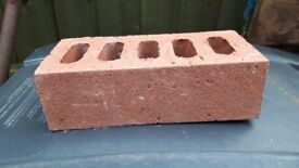 Red brown face brick approx 200. Possibly Berkshire Red.