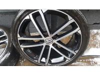 """GENUINE VOLKSWAGEN GOLF MK7 7.5 GTD SEVILLA 18"""" ALLOY WHEELS and tyres"""
