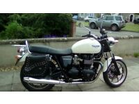 Very low mileage white 2011 Bonneville, well looked after, female owner, North Somerset/Bristol area