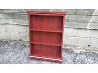 Red Brown Shabby Chic Wall shelves Solid Pine