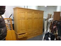 Exceptional Very Large Pine Wardrobe