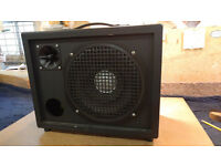 "2 x 100 watt PA Speakers 10"" main driver plus tweeter + 2 stands"