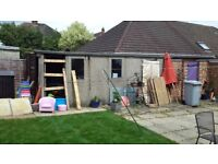 Concrete garage free for collection and dismantling