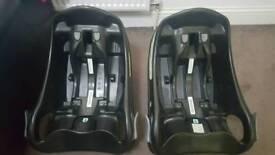 2 baby car seat base black