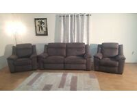 Montana grey fabric electric 3 seater sofa,electric chair and manual chair