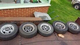 Triumph stag wheels for refurbishment