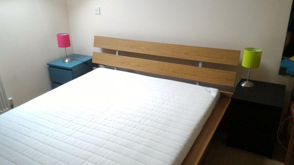 Ikea Hopen Kingsize Bed With Sultan Fossing Mattress Excellent