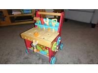 Wooden tool set baby walker