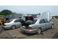 Mercedes-Benz e220cdi breaking w210 model diesel parts bumper bonnet wing light radiator