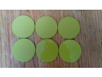 6 lime green placemats and coasters