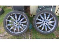 "22"" Overfinch Alloys 5x120 bmw,landrover,rangerover ,vw T5 £150"