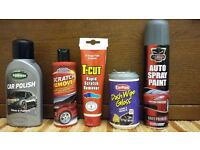 Assorted car cleaning & care products