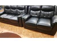 Leather sofa set 3 seater & 2 Seater