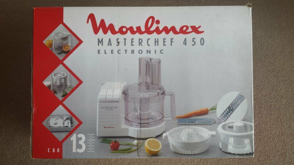 Unused Moulinex Masterchef 450 electronic food processor  : 86 from www.gumtree.com size 1024 x 576 jpeg 89kB