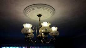Golden chandeliers