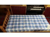 Willies Gambier Pine Single Bed & Orthopaedic Mattress
