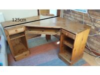 Home office desk with drawer and shelf storage
