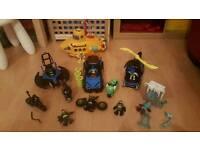 Imaginext Bundle - DC Batman vehicles, figures, submarine