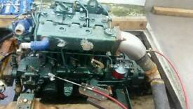 Lister lpw3 30hp marine engine and gearbox for boat