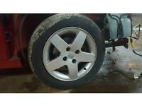 Peugeot 207 alloys and tyres 4x108