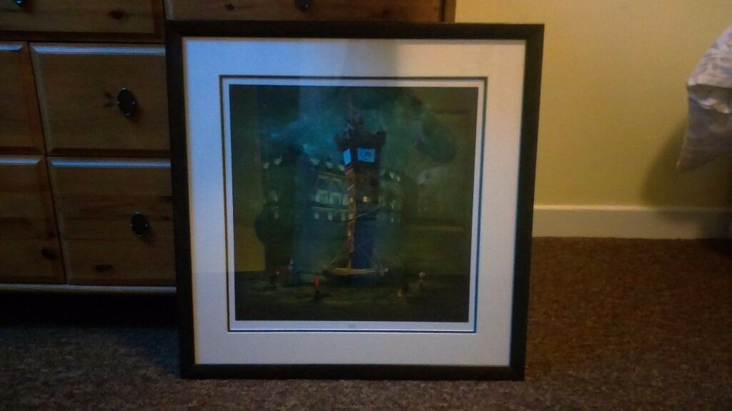 Large framed print of the Tron Clock Glasgow