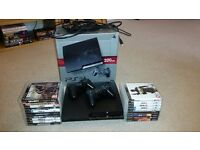 Playstation 3 320gb with box, all wires, 2 controllers and 19 games. Good condition.