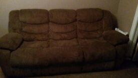 3 seater sofa brown