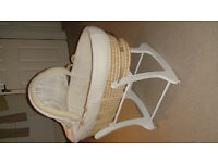 Mothercare complete moses basket with rocking stand