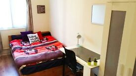LOVELY DOUBLE ROOM IN A FRIENDLY FLAT IN STAINES. CLOSE TO STATION.ALL BILLS & COUNCIL TAX INCLUDED.