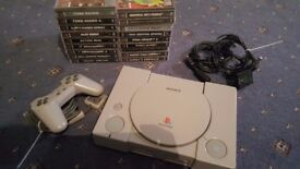 PS1 19 games 1 controller