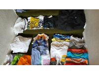 BOYS large bundle of clothes 9-12yrs, assortments of items, coats, trousers, hoodies....