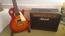 Epiphone Les Paul 100 Guitar & Marshall Amp