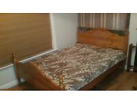 Double bed frame NO MATTRESS