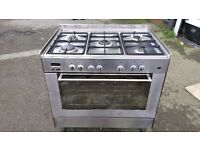DELONGHI DFS090SO 90CM DUAL FUEL RANGE COOKER IN GOOD CONDITION & WORKING ORDER