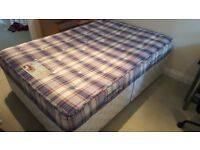 6 Foot Double Divan Bed Including Mattress - Kelvedon