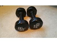 66Fit 5kg dumbbell weight set