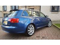 AUDI A4 AVANT 2.0TDI S-LINE 140BHP - RARE EXAMPLE with 2-TONE LEATHER LONG MOT