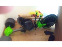 Go cart for sale green and black excellent condition