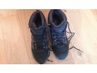 Waterproof walking boots. Size 6