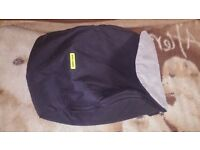 Maclaren Techno XLR footmuff/boot apron in Black/Charcoal