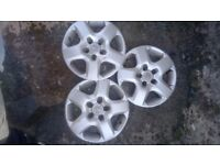 Vauxhall wheel trims 15 inch slight scuffs 3 only pick up edge Lane