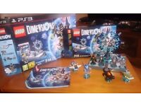 PS3 LEGO DIMENSIONS STARTER PACK + EXTRA FIGURES
