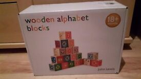 John Lewis Alphabet Blocks (brand new)