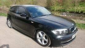 2008 BMW 118D SPORT 3DR BLACK, REMAPPED, NEW TIMING CHAIN, NEW CLUTCH